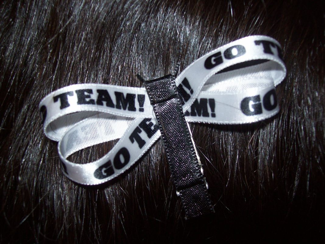 "Sports Bows - ""Go Team"" Dragonfly $1 for a pair- Catch That Craft"