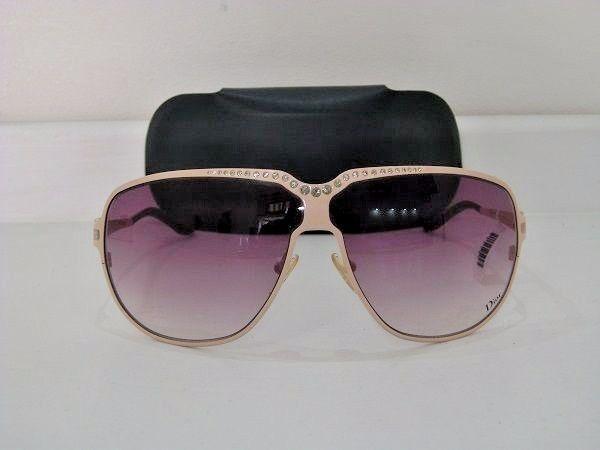 ee3a1ecf4c3 Christian Dior Ladies Womens Aviator New case Jewel Sunglasses Nude  swarofski  CHRISTIANDIOR