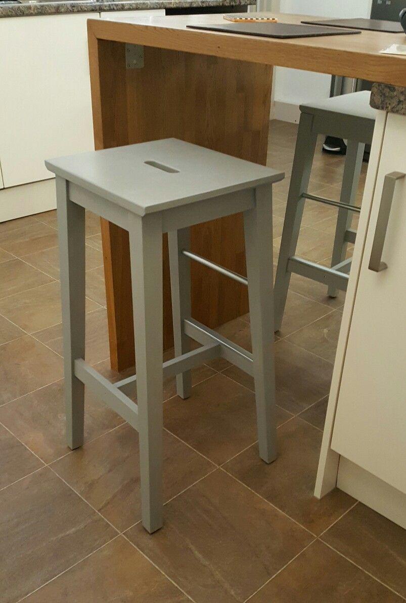 Bosse Ikea stools in Annie Sloan Chalk Paint - Paris Grey | sitting ...