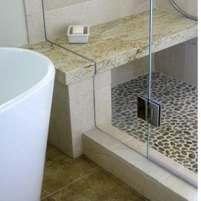 Stone Shower Bench Design Ideas Pictures Remodel And Decor Asian Bathroom Stone Shower Shower Bench