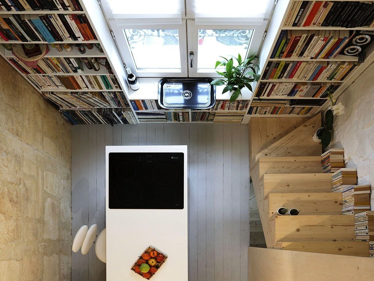a tall narrow townhouse Develop a tall narrow townhouse Develop a tall narrow townhouse How To Upgrade Your Plan Door Miter Box Tiny House Plans  Amazing staircase as see...