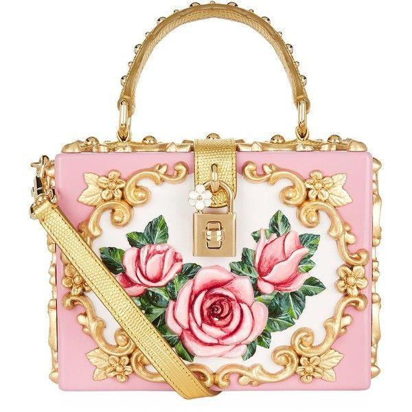 109af30843ef Dolce   Gabbana Rose Embellished Top Handle Bag ( 7