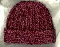 Crocheted Rib Hat free #crochet #hat #pattern