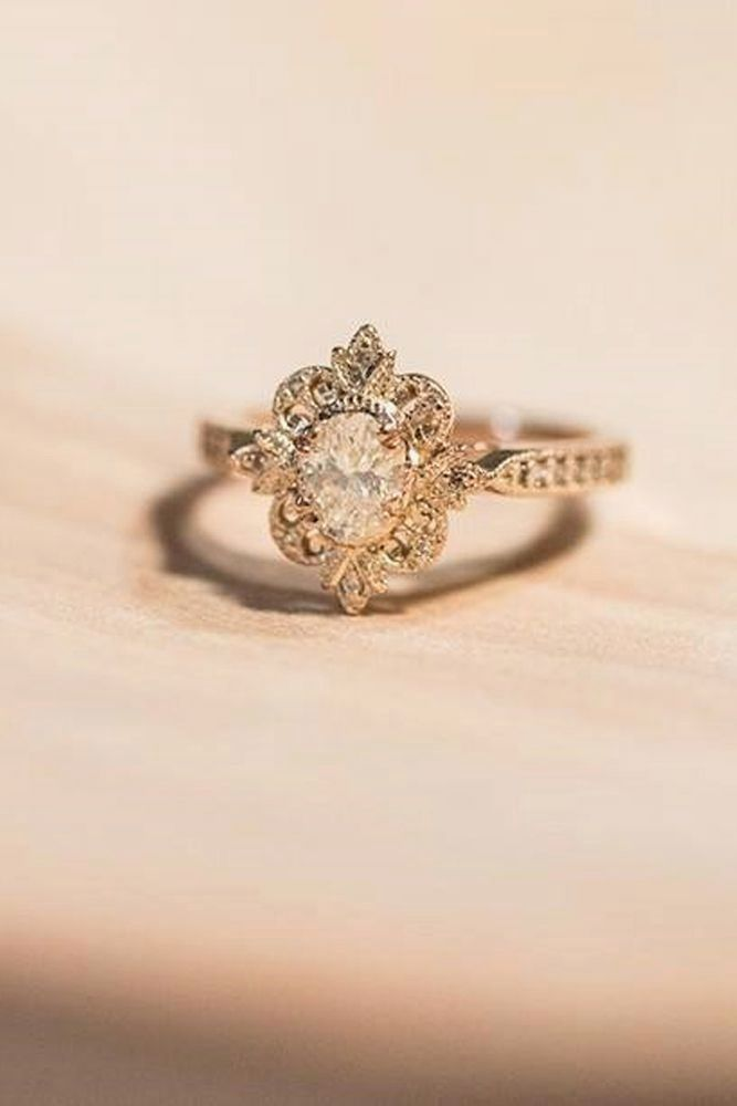 with engagement greenlakejewelry ring elegant and round gold stunning rings diamond gorgeous rose vintage cut floral