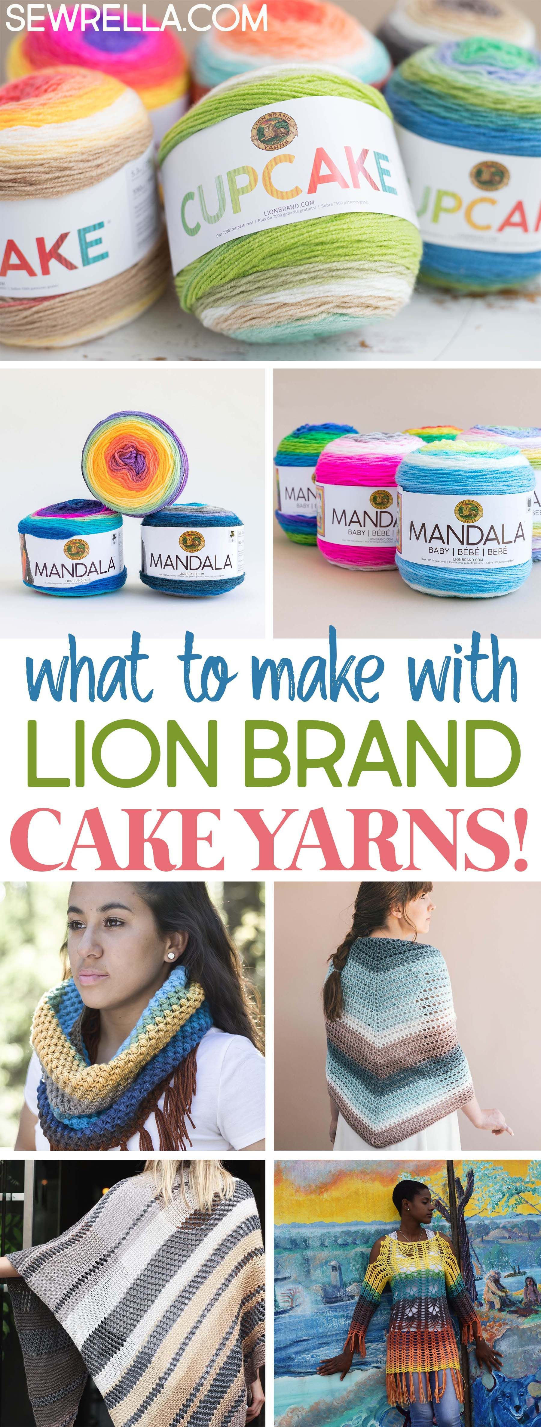 Knit and Crochet Patterns with Lion Brand Cake Yarns | Crochet ...