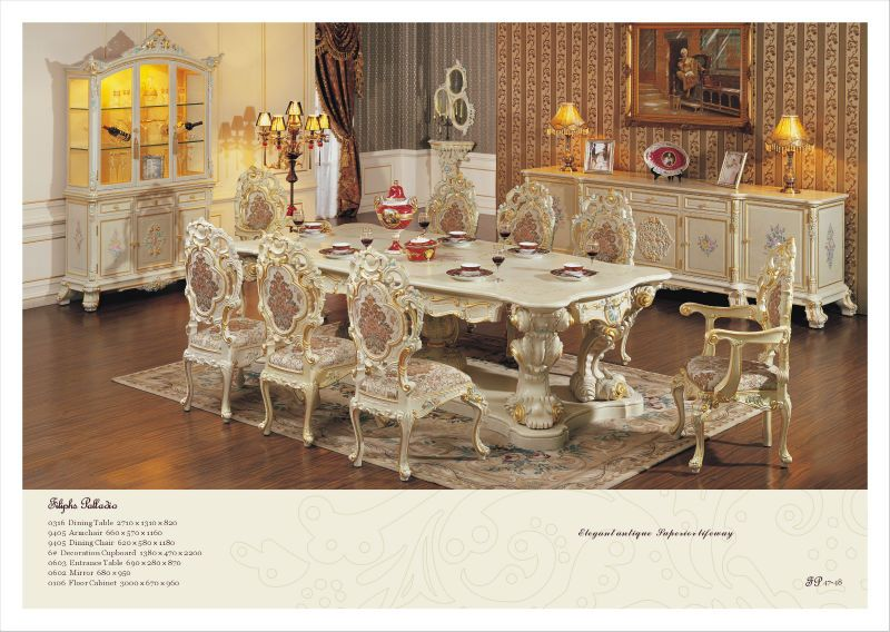 Rococo Style Furniture French Dining Room