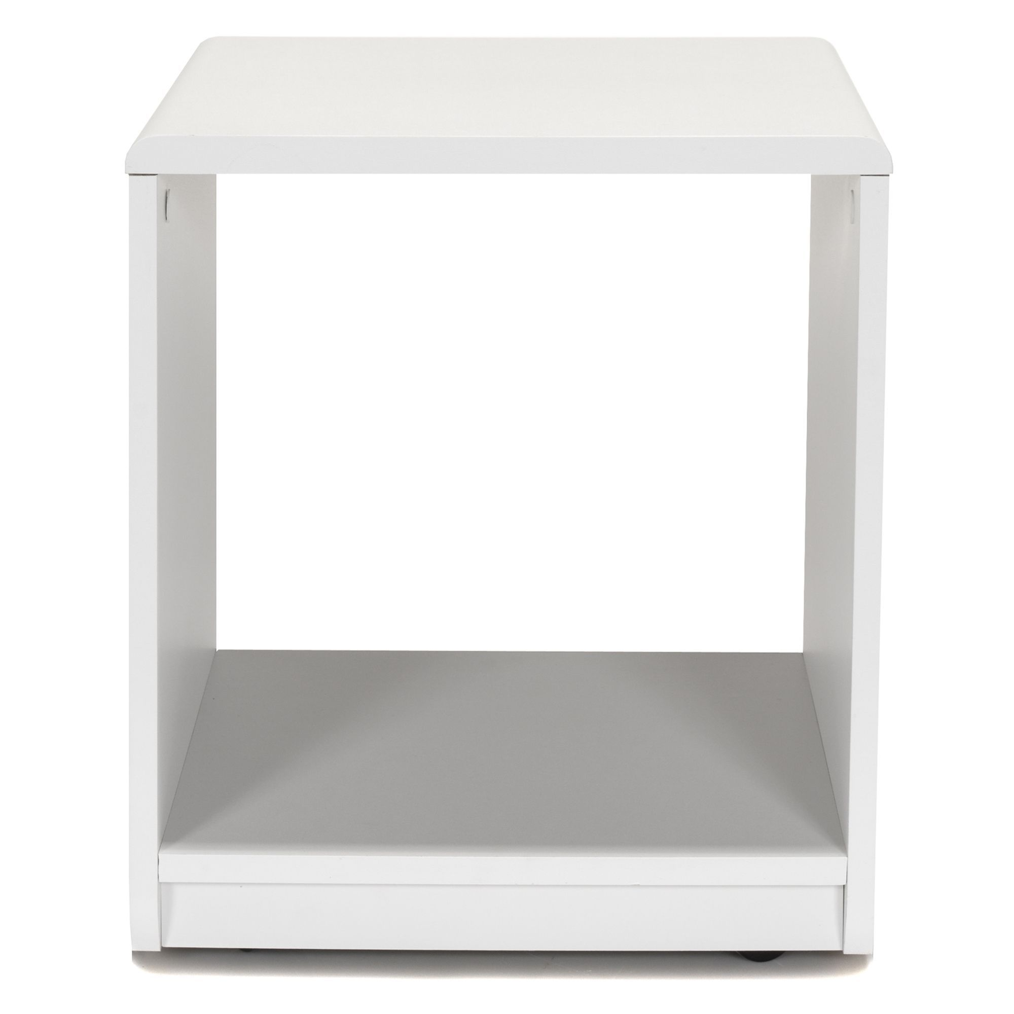 Table De Nuit Alinea Interesting Chevet Forme Cube Blanc Reversible Argent Cool