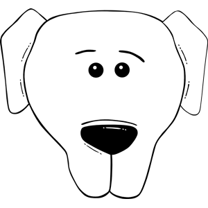 Dog Face Clipart Black And White Clipart Panda Free Clipart