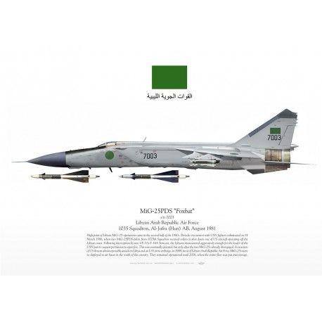 "MiG-25PDS ""Foxbat"" القوات الجوية الليبية TC-105 | Самолет ..."
