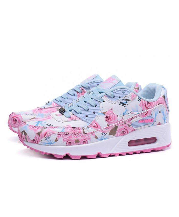 Nike Air Max 90 Floral Light Blue Pink Rose Trainer Very