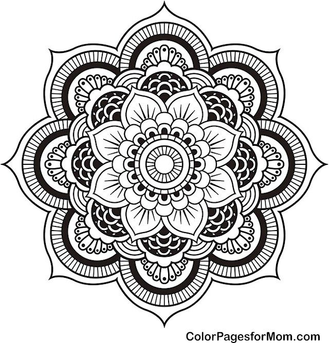 Lotus Flower Mandala Coloring Pages Designs Trend
