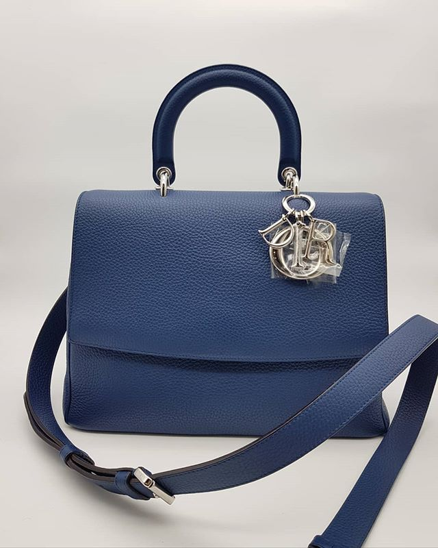 2300 wire. Preloved Be Dior Flap Medium Bag Blue Grained