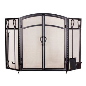 Allen Roth Fireplace Screen With Tool Set 59 97 At Lowes