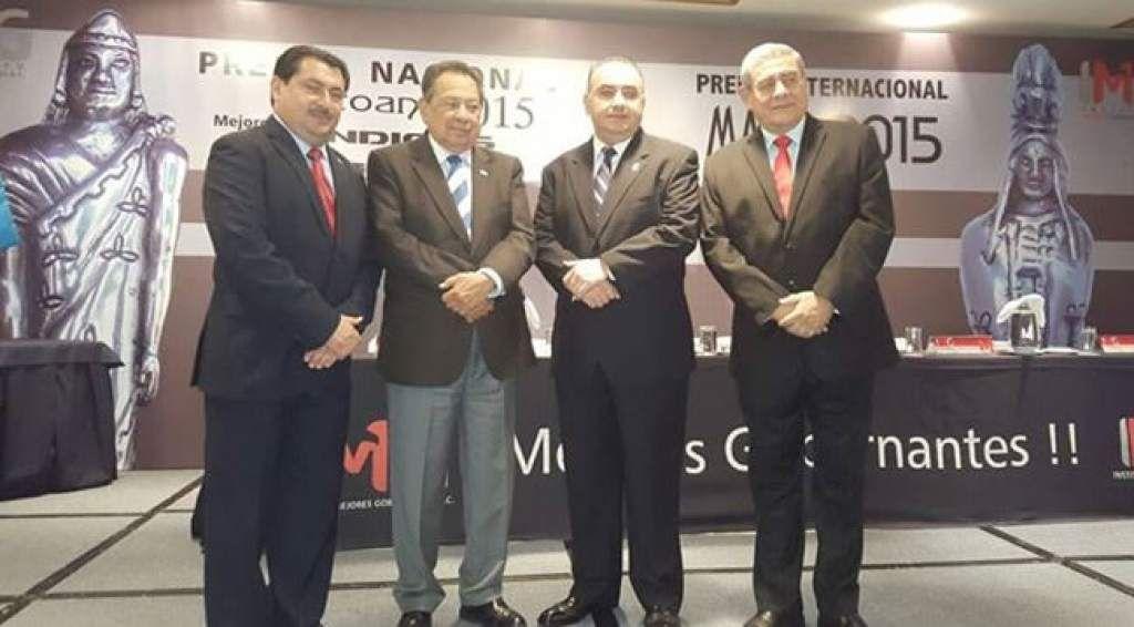 Premian gestión de tres alcaldes hondureños Allan Ramos; José Castillo, embajador de Honduras en México; Alexander Leiva y Leopoldo Crivelli.