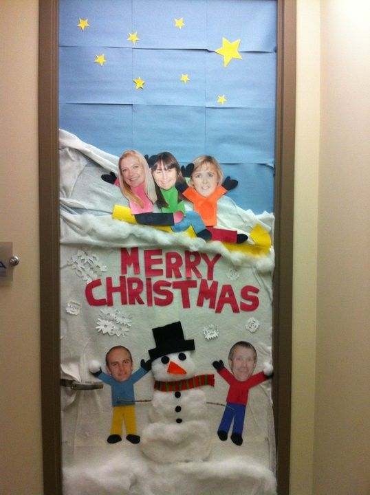 Office Christmas Door Decorating Ideas
