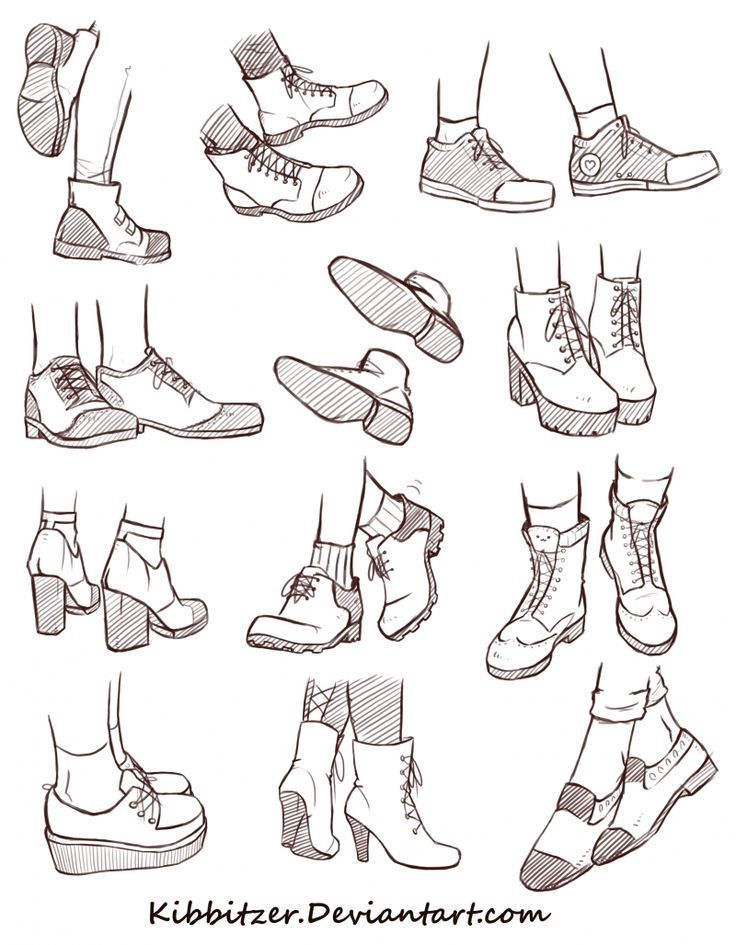 Photo of Shoes Reference Sheet 2 | kibbitzer on Patreon