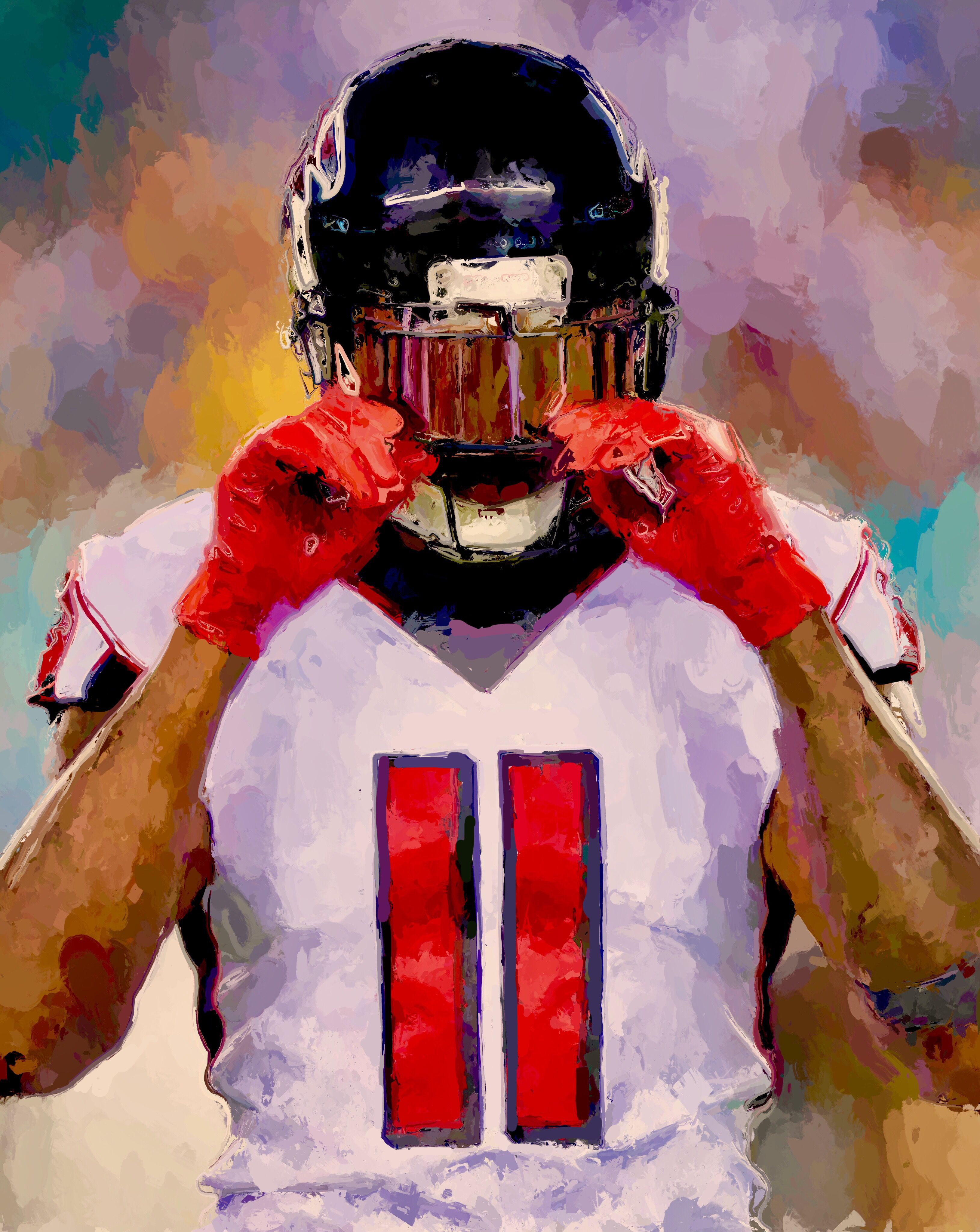 Juliojones Atlantafalcons Nfl Sports Art Atlanta Falcons Nfl