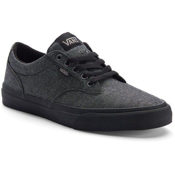 Vans Winston Men's Skate Shoes ($50) ❤ liked on Polyvore featuring men's fashion, men's shoes, men's sneakers, black, mens shoes, mens black skate shoes, mens sneakers, mens black sneakers and mens skate shoes