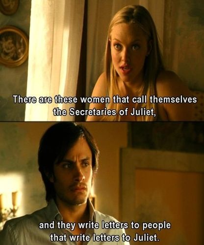 letters to juliet - about the real secretaries of juliet :-) like me