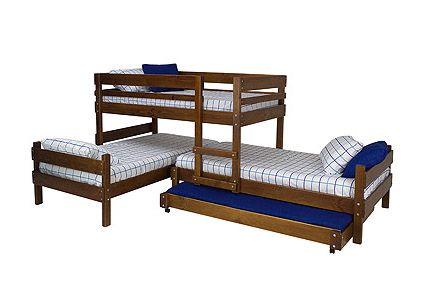 Bunkers The Lo Line Longwall Bunk Bed With Standard Bed Divan Foot