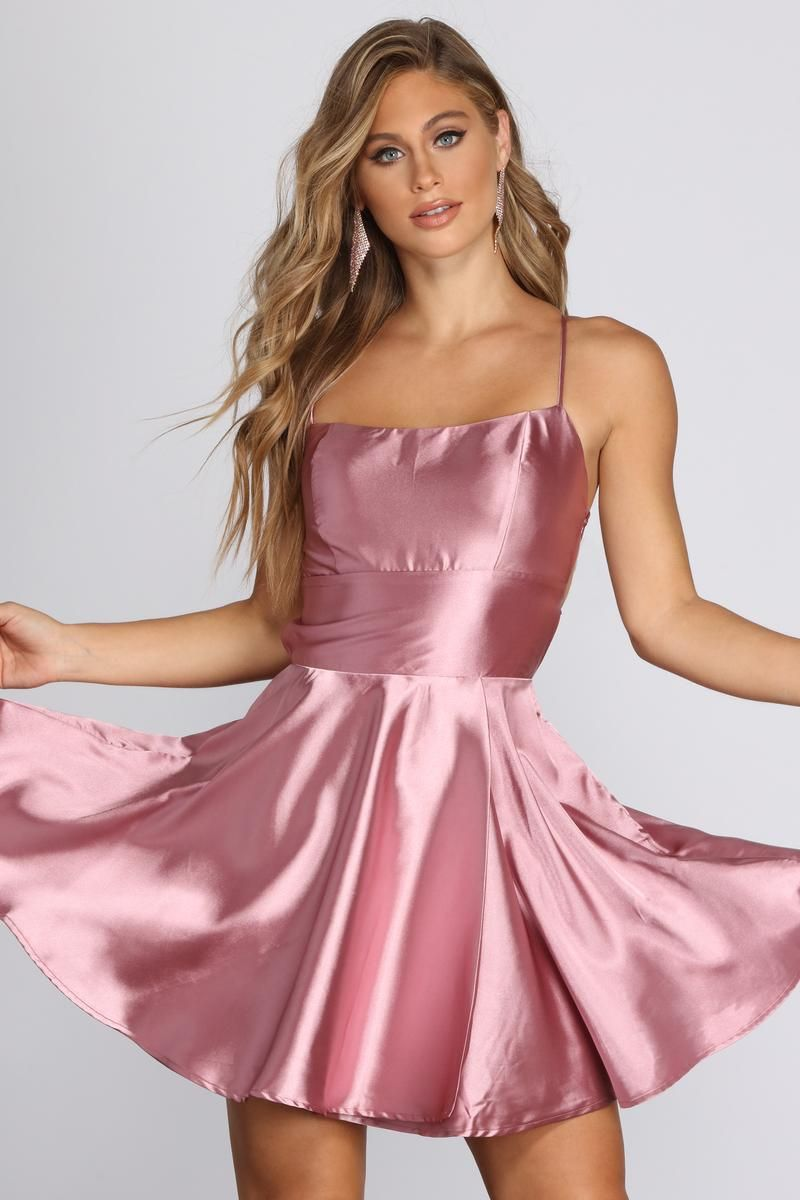 Frida Satin Party Dress In 2021 Professional Dresses Party Dress Satin Dresses [ 1200 x 800 Pixel ]