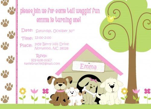 Puppy dog theme birthday party invitations personalized printable puppy dog theme birthday party invitations personalized printable filmwisefo Choice Image