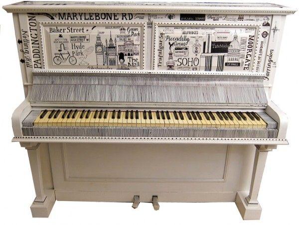 Mumford and Sons piano graffiti