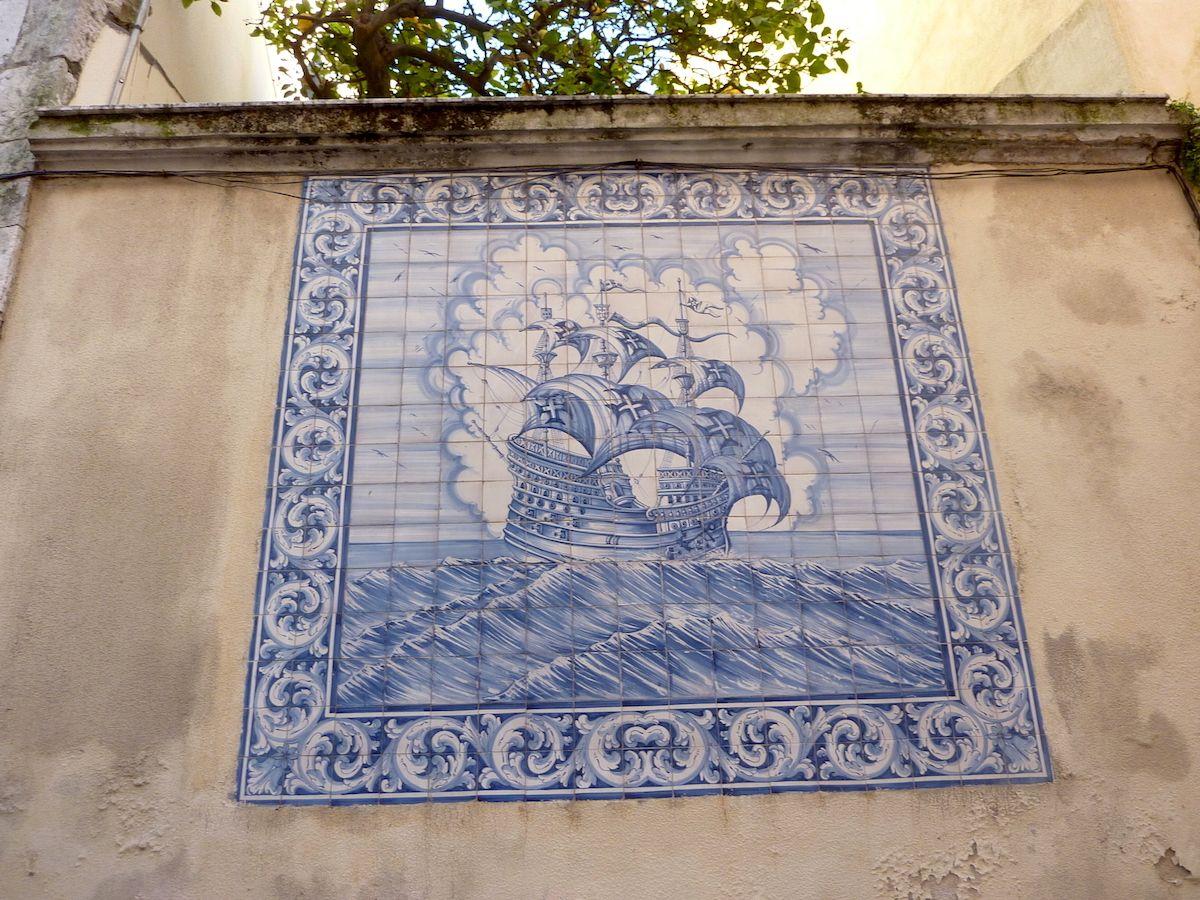 sailing ship Azulejos