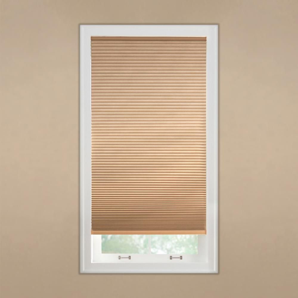 Home Decorators Collection 23 In W X 48 In L Latte Cordless Horizontal Cellular Blackout Home Decorators Collection Blackout Shades Blackout Cellular Shades