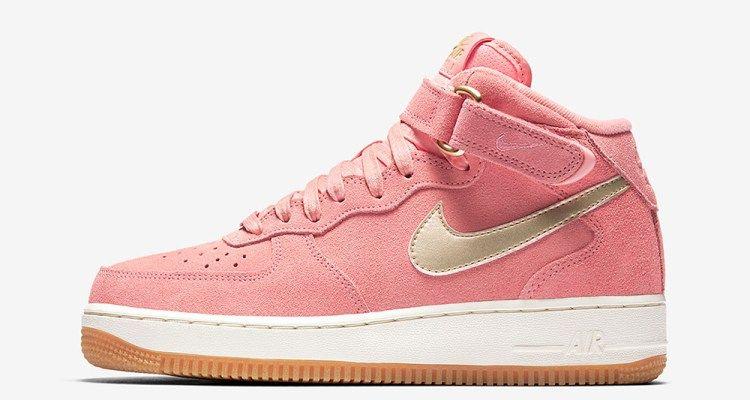 Nike Wmns Air Force 1 Mid Bright Melon Nike Air Force Chaussures Nike Gratuites Nike Air