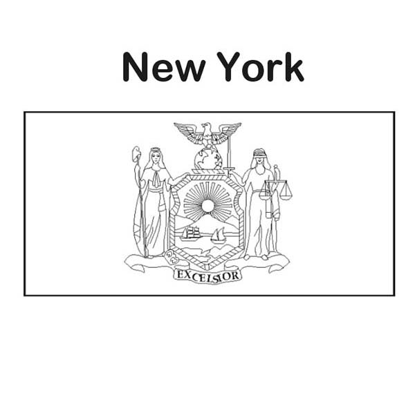 New York State Flag Coloring Page Color Luna Flag Coloring Pages Coloring Pages State Flags