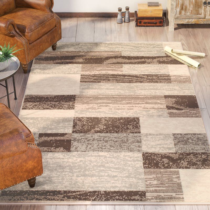 Valenti Rockwood Geometric Power Loom Slate Rug Brown Area Rugs