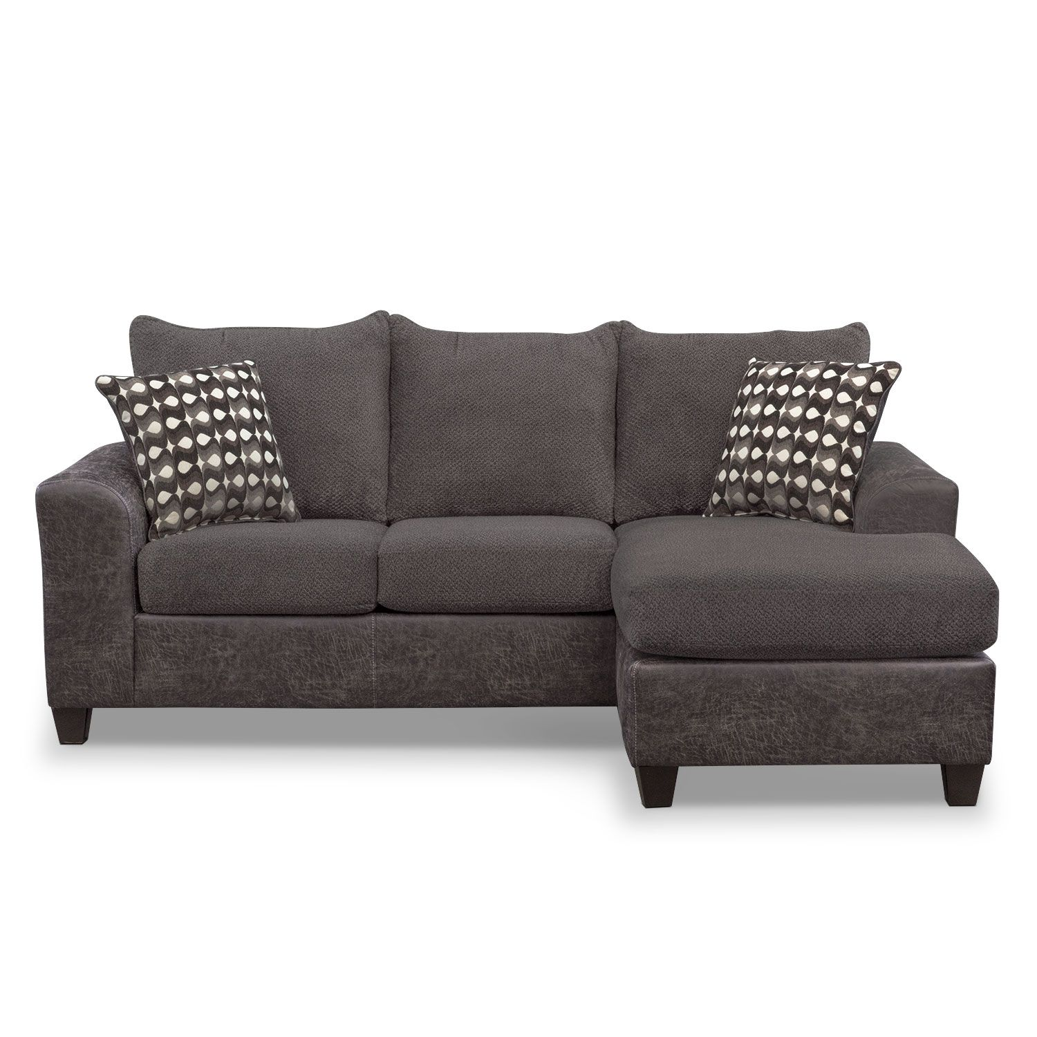 Brando Sofa With Chaise In Smoky