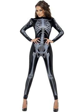 halloween kostume skelett kostum damen