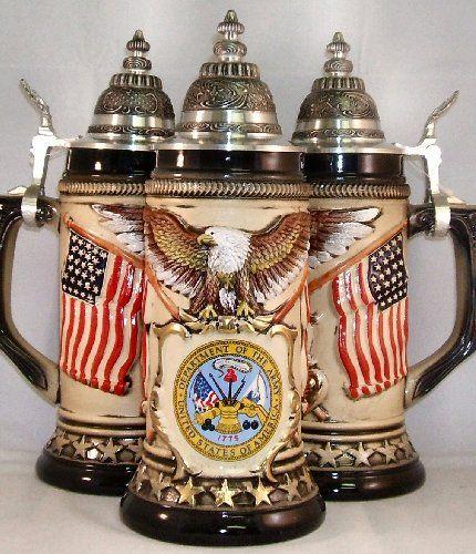 United States Army Rustic German Beer Stein .75L