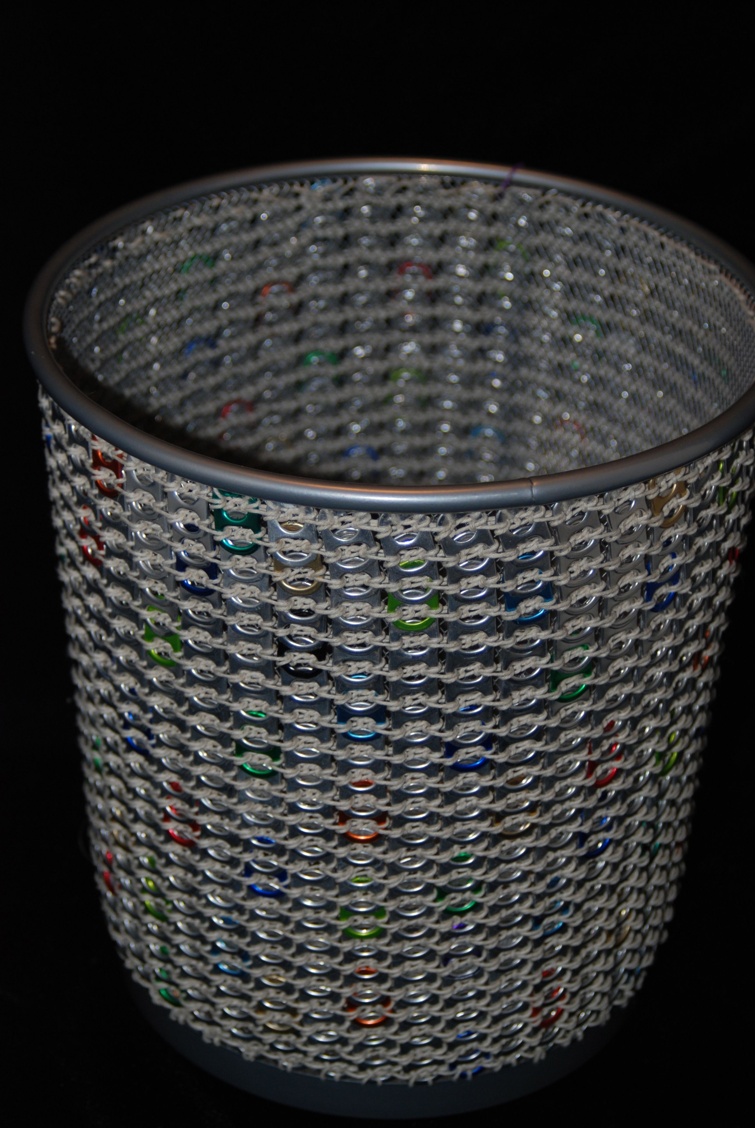 Silver Trash Cans Newest Pieces Confetti Trash Can Colored Tabs With
