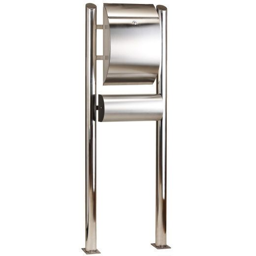 European Free Standing Stainless Steel Mailbox Letterbox Post Mail 55 Height Unbranded Stainless Steel Mailbox Mounted Mailbox Letter Box