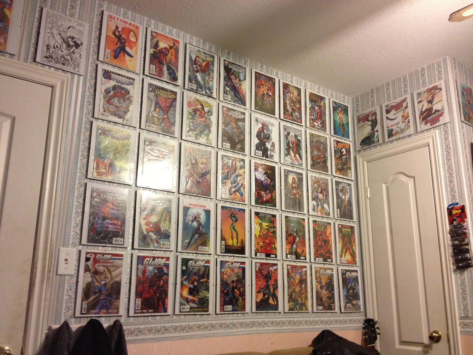 Img 0148 Jpg 1632 1224 Book Wall Art Comic Book Wall Display