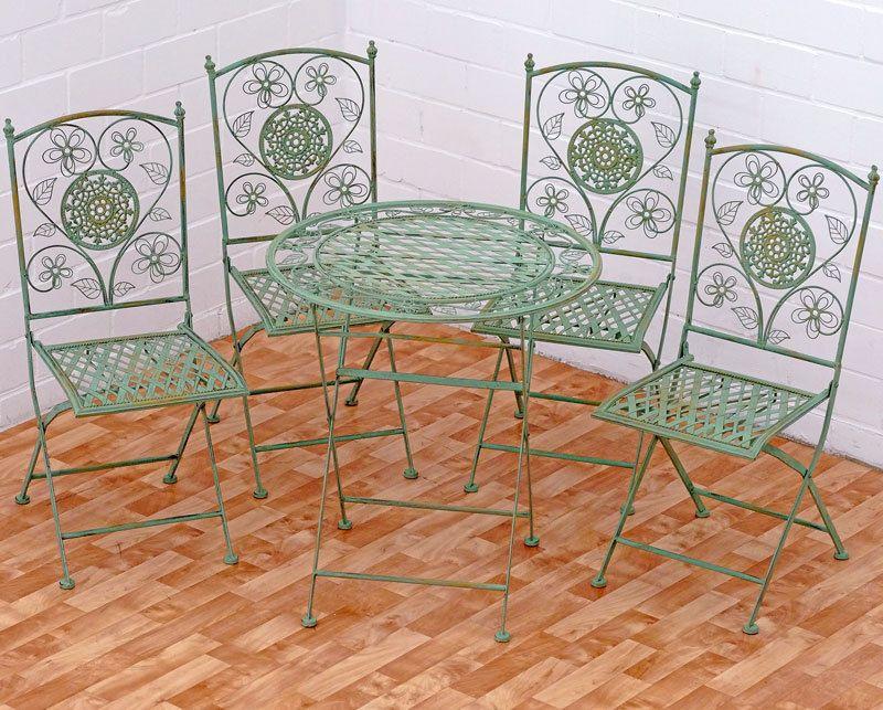 eisen gruppe 5tlg gartenmÖbel metall gartengarnitur antik grÜn 4 x, Garten Ideen