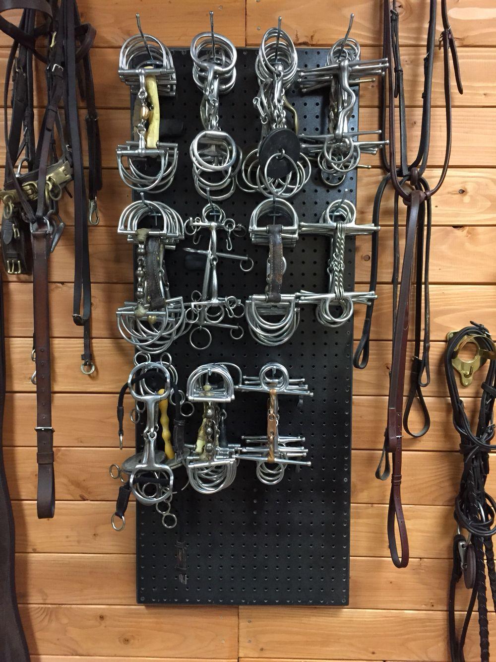 Bit Organizer Horse Barn Ideas Stables Tack Room Tack Room Organization