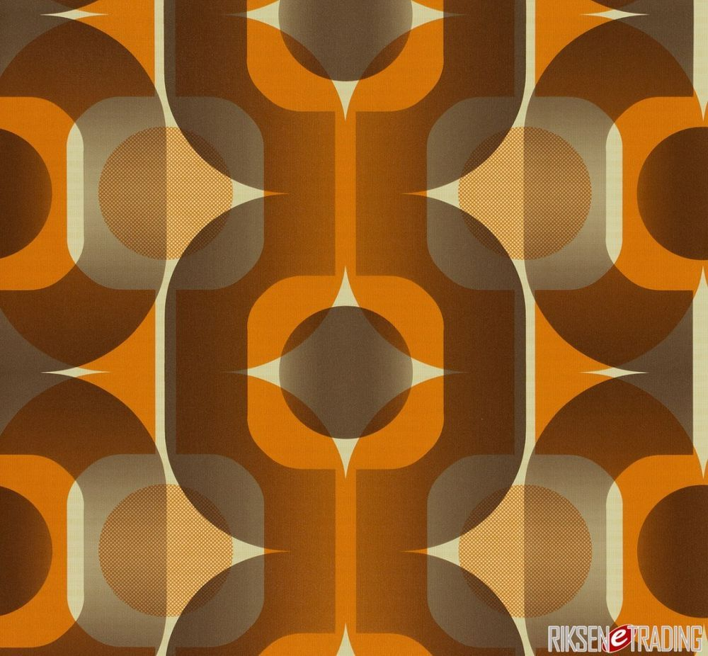 RETRO 20s BROWN BEIGE ORANGE QUALITY FEATURE DESIGNER WALLPAPER ...