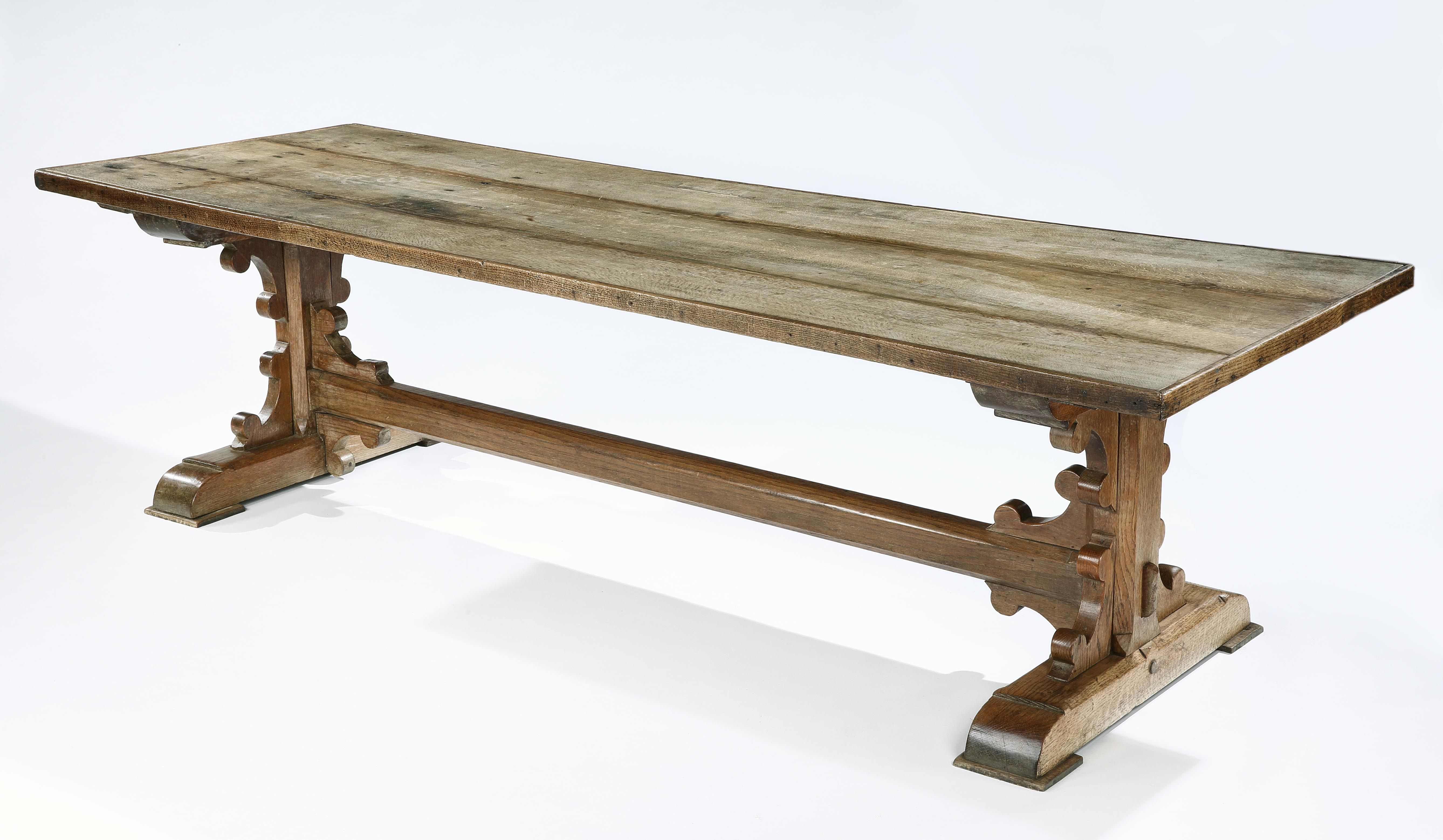 Gothic Oak Refectory Table Rose Uniacke Tables