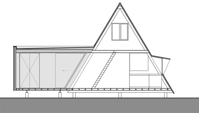 Extension Vb4 An Addition To An A Frame House By Dmva Architecten A Frame House Triangle House Building A Cabin