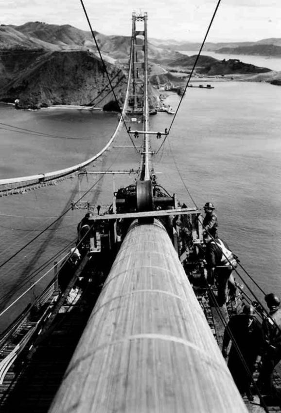 construction of the golden gate bridge in 1933 photos