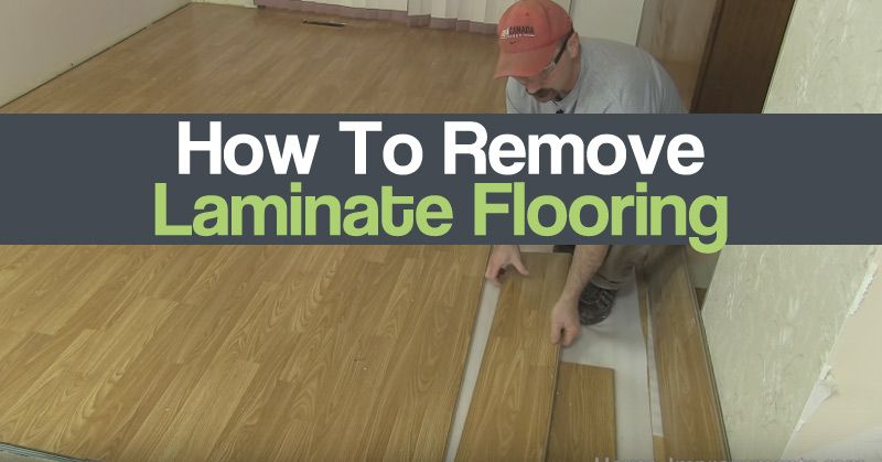 How to remove laminate flooring httpwwwdiycraftzone