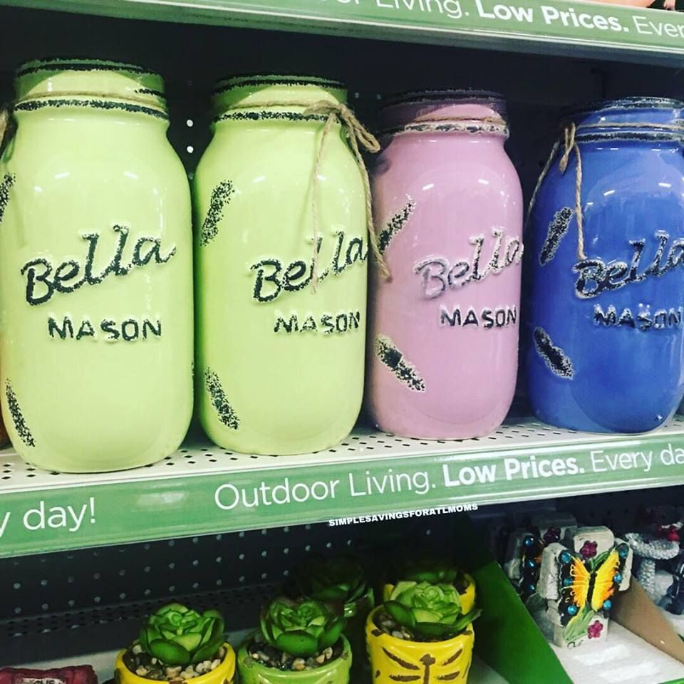 Bella Mason Jars At Dollar General 6 Mason Jars Mason Jar