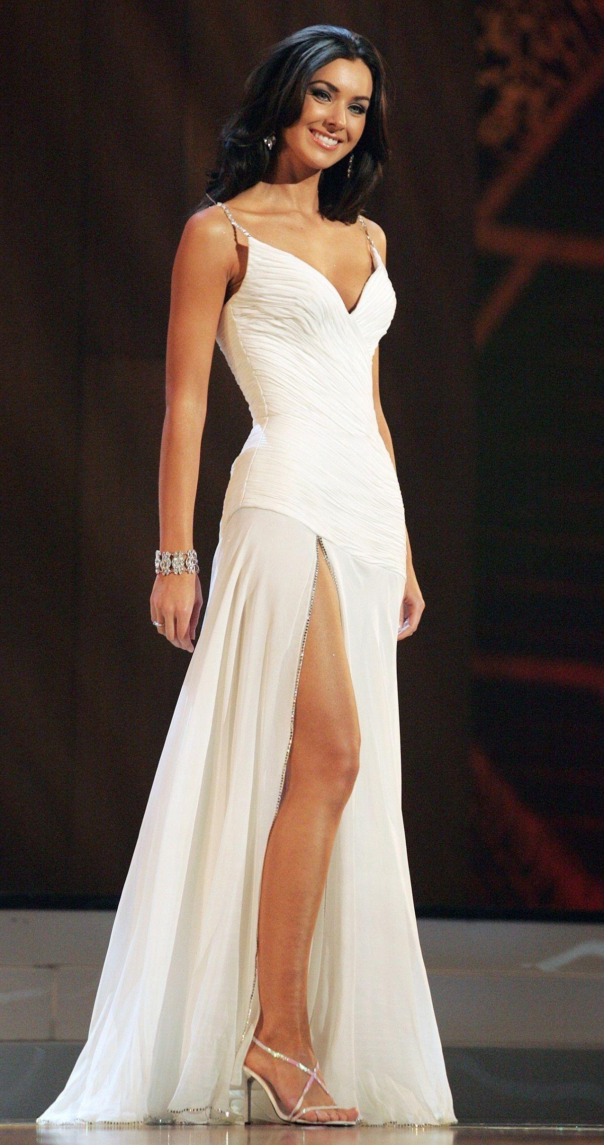 Natalie Glebova Fans Share Pageant Gowns Formal Dresses Long Dresses [ 2273 x 1200 Pixel ]