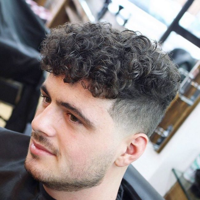 Faded Permed Shape Up With Fringe 25 Cool Short Curly Hairstyles For Men Men S Hairstyles Perm Hair Men Curly Hair Men Permed Hairstyles