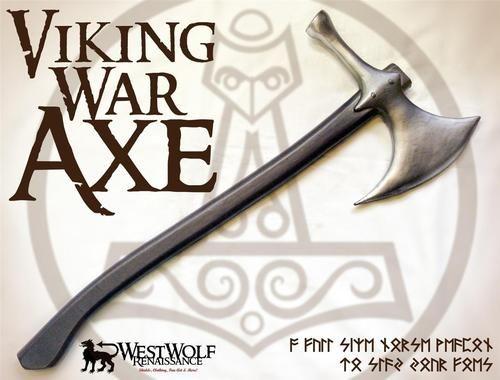 VIKING WAR AXE sca//larp//medieval//cosplay//lotr//norse//dwarven//sword//hammer NEW