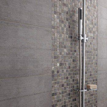 Mosaïque mur Silverstone gris argent | Leroy Merlin | Maison ...